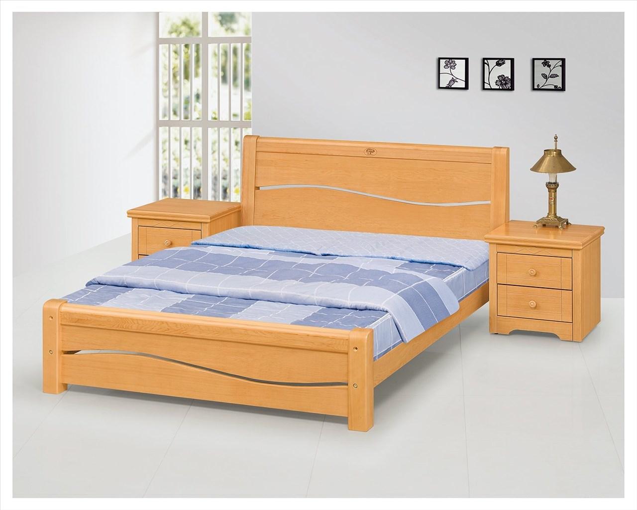 ~石川家居~EF~96~1 米蘭五尺檜木色雙人床架 ^(不含床墊及含 ^) 需 車趟