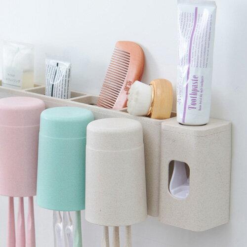 小麥秸稈粘貼式自動擠牙膏器大人小孩全家適用