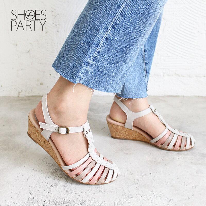 【S2-18513L】真皮手工編織楔型涼鞋_Shoes Party 3