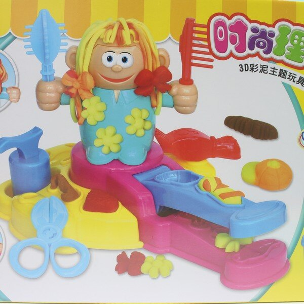 理髮師彩泥機組 6818-1 益奇思時尚理髮師 / 一盒入 { 促350 }  3D彩泥主題玩具 ST安全玩具~生K2182 3
