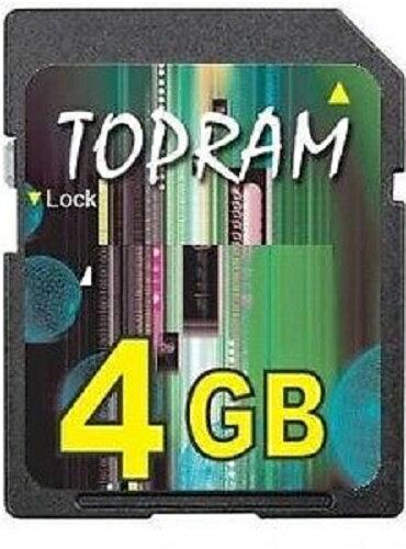 TOPRAM 4GB 4G SD V1.1 Secure Digital Flash Memory Card for GPS non-SDHC Bulk 0