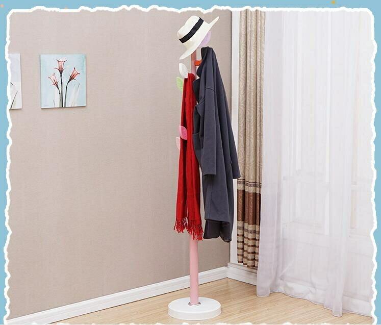 簡約現代衣帽架衣架臥室家用掛衣架創意樹葉可愛藝術落地