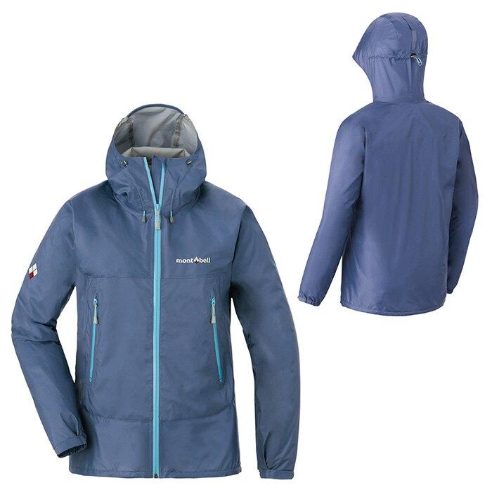 ├登山樂┤日本 mont-bell RAIN TREKKER JACKET WS 女款雨衣 灰靛藍 # 1128597PLIG
