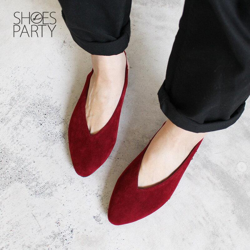 【P2-18102F】小腳效果深V平底便鞋_Shoes Party 5