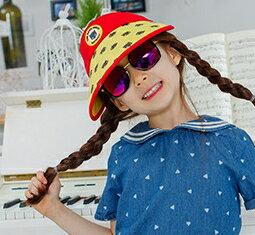 Kocotree◆時尚可愛卡通蝙蝠俠兒童親子款防曬透氣空頂遮陽帽-紅色