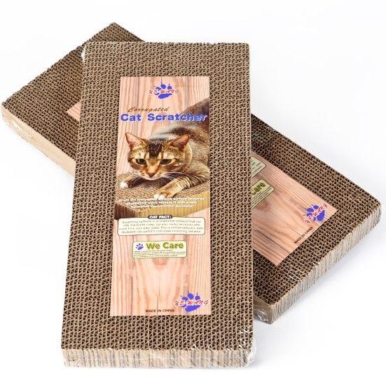 長方形環保蜂窩瓦愣紙貓抓板-翹翹鬍子