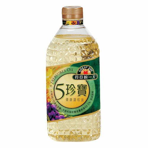 桂格得意的一天五珍寶健康調和油2.4L【愛買】
