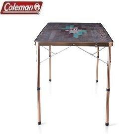 [Coleman]INDIGOLABEL自然風木紋抗菌褶桌120公司貨CM-32521