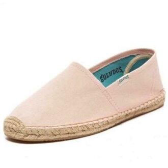 【Soludos】美國經典草編鞋-基本款草編鞋-粉