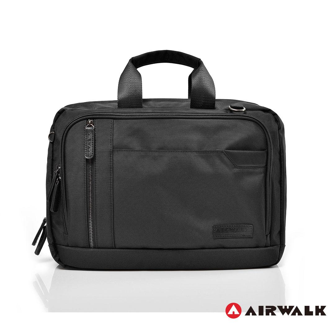 AIRWALK街頭系列-移動城市多夾層手提斜背包-黑色