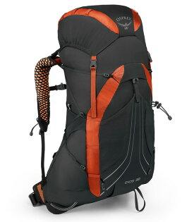 【Osprey美國】Exos38超輕量透氣網背後背包登山背包運動背包健行背包火焰黑〈容量38L〉/Exos38