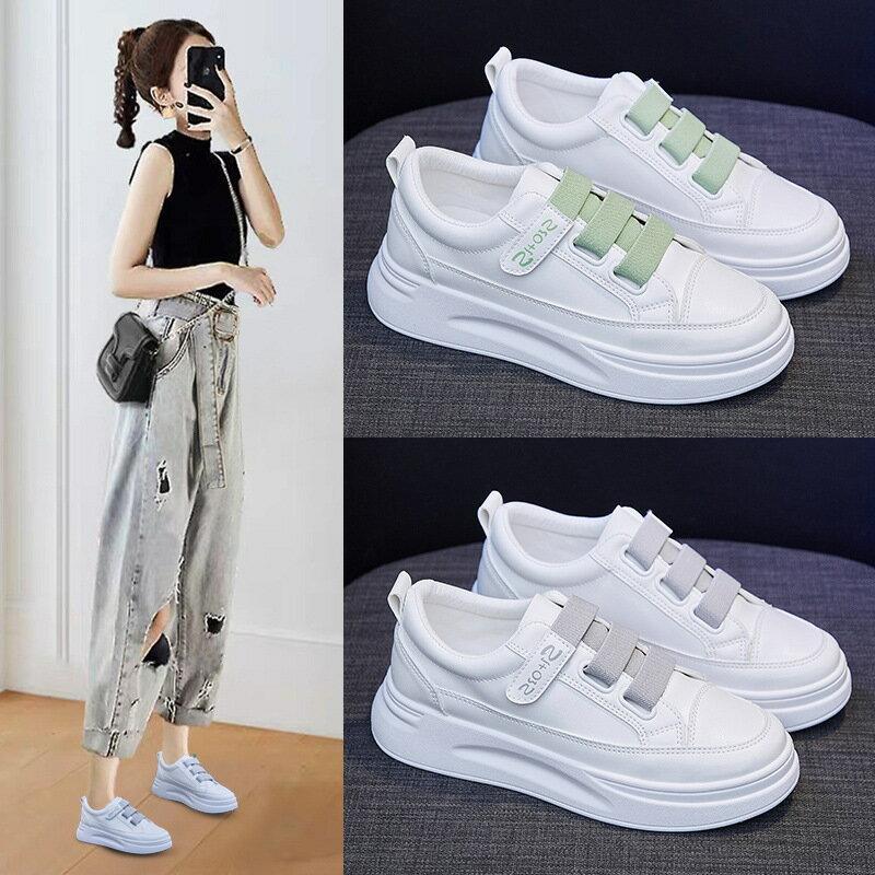 魔術貼小白鞋女2021春季新款韓版學生跑步板鞋女ins透氣女鞋SH01