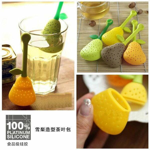 =優生活=食用級矽膠梨子矽膠茶葉包 鏤空茶葉過濾器 小葫蘆茶漏器 可愛造型泡茶器