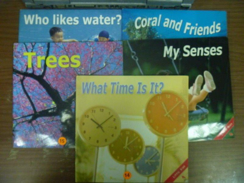 【書寶二手書T4/少年童書_HLT】Who likes water_Trees_My Senses...等5本合售