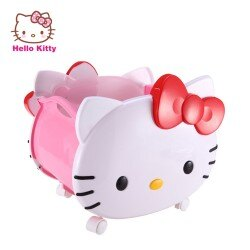 【成長天地】Hello Kitty 造型玩具收納籃 附輪及把手設計 方便推拉