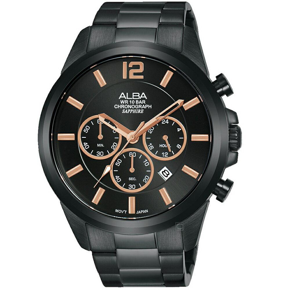 寶時鐘錶 ALBA雅柏百搭潮流計時手錶  VD53-X352SD  AT3G39X1