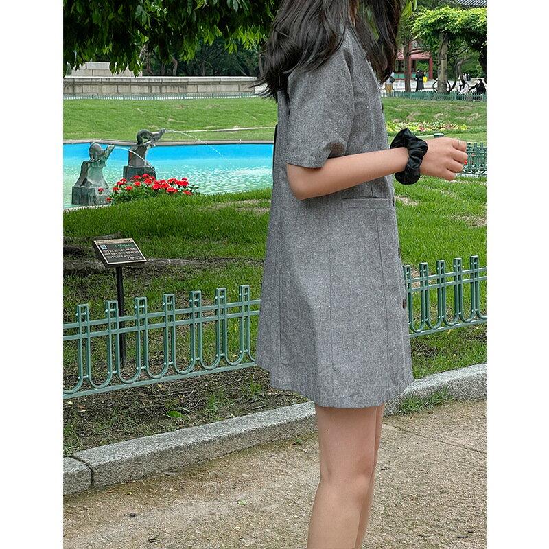 全店一件免運✦復古氣質小方領洋裝✦女裝