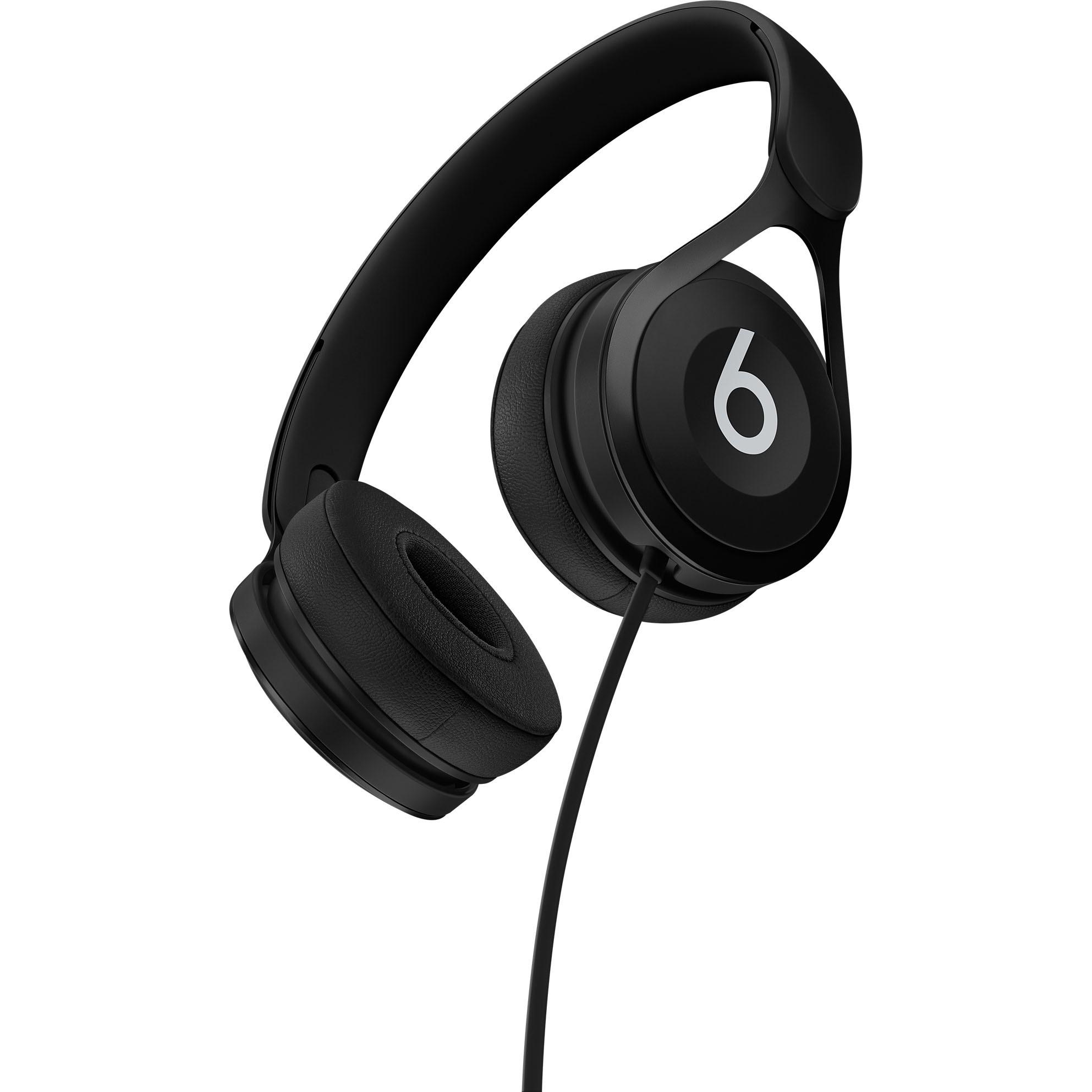 Beats by Dr. Dre EP On-Ear Headphones - Black - Stereo - Black - Mini-phone - Wired - Over-the-head - Binaural - Supra-aural 4