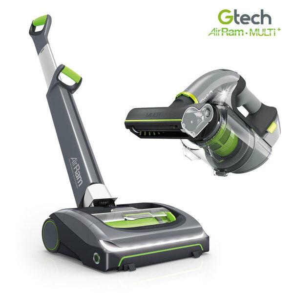 (瘋狂大降價+點數回饋15%=2000元)英國 Gtech 小綠 AirRam + Multi Plus 無線吸力不衰弱吸塵器 (第二代超值組)