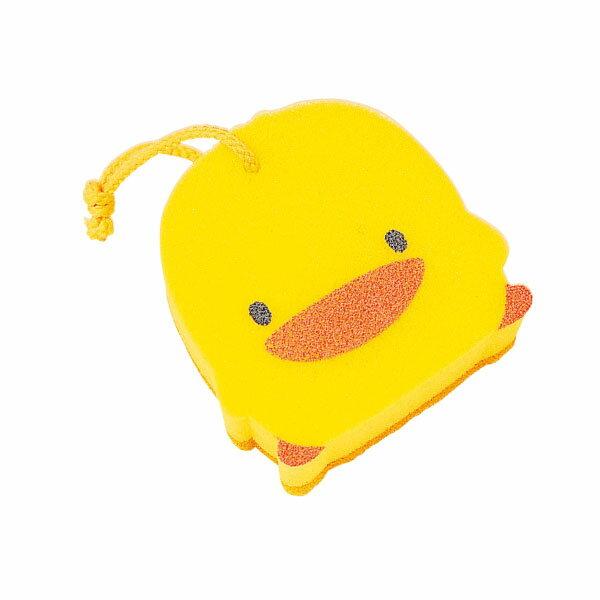 『121婦嬰用品館』黃色小鴨 雙層沐浴海綿