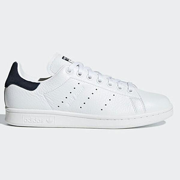 AdidasStanSmith女鞋慢跑休閒潮流經典復古皮革白藍【運動世界】B41626
