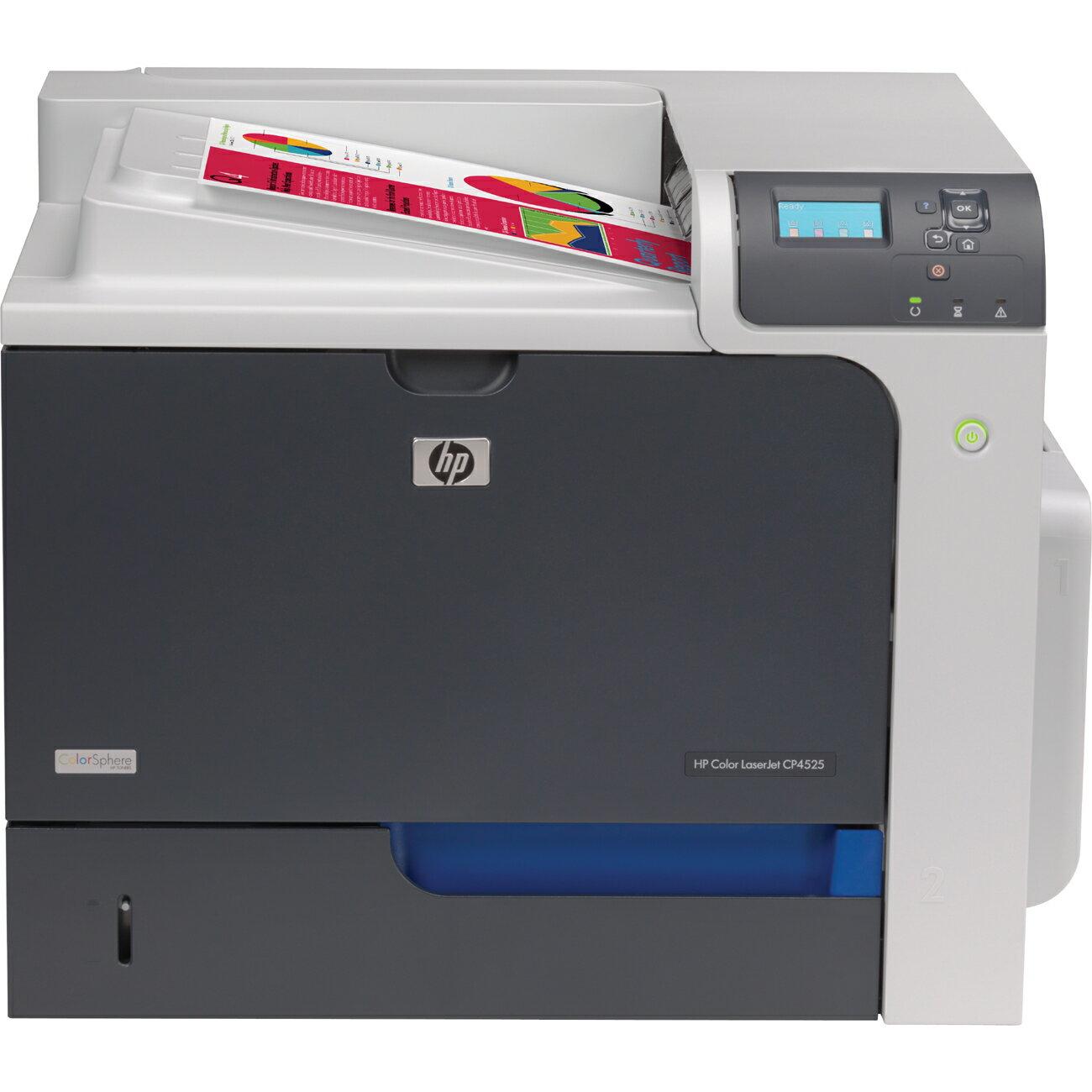 HP LaserJet CP4000 CP4525N Laser Printer - Color - 1200 x 1200 dpi Print - Plain Paper Print - Desktop - 42 ppm Mono / 42 ppm Color Print - Letter, Legal, Executive, Postcard, Envelope No. 10, Envelope No. 9, Monarch Envelope, Statement - 600 sheets Stand 0