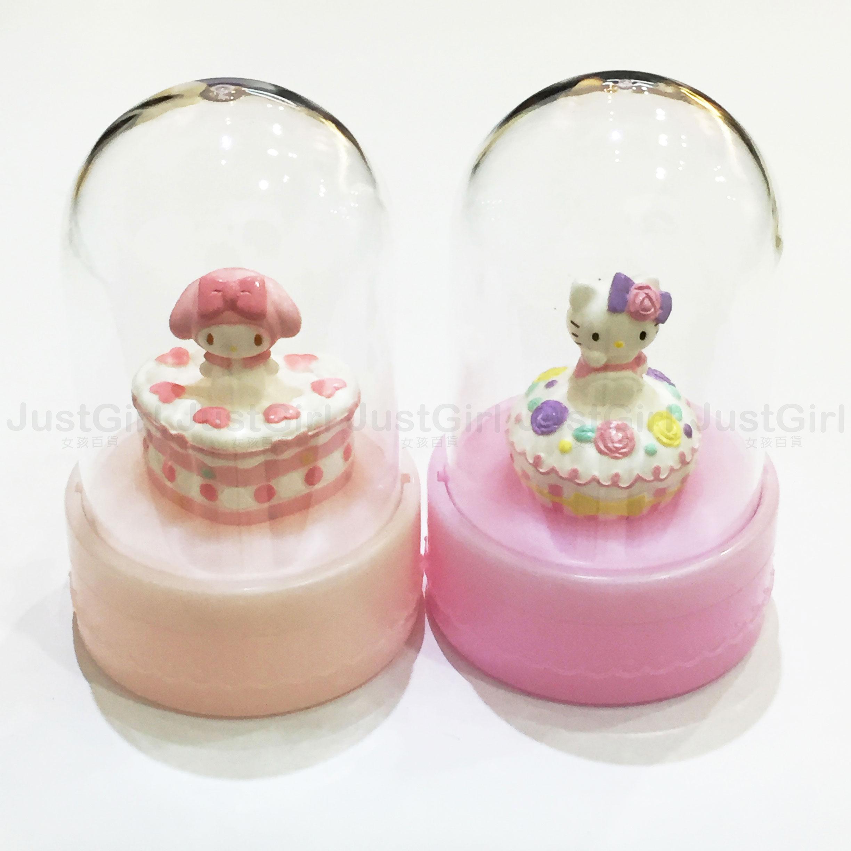 HELLO KITTY 美樂蒂 聖誕節水晶球 置物盒 收納盒 飾品收納 居家 正版日本進口 * JustGirl *