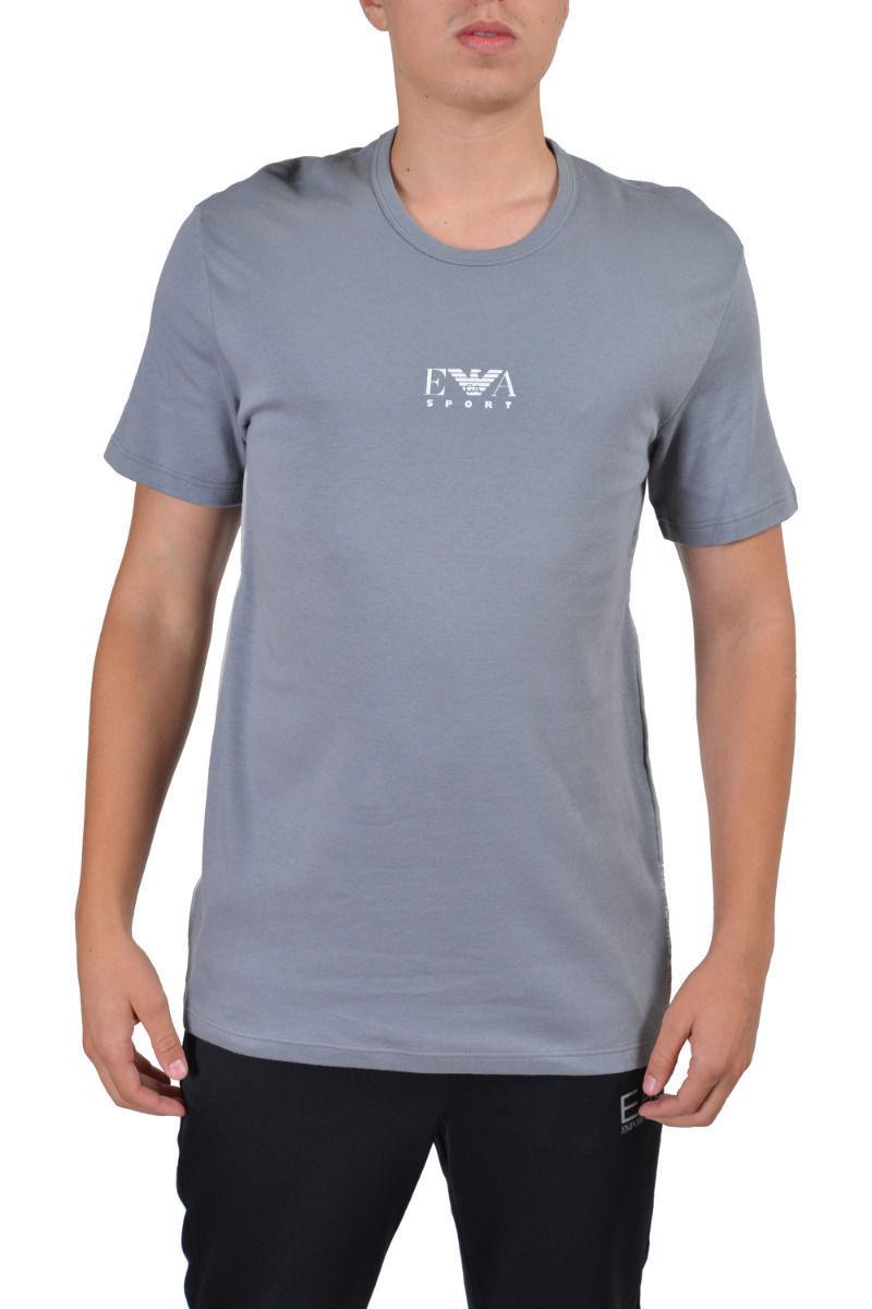 0ed4872a Emporio Armani Sport Men's Gray Crewneck Short Sleeve T-Shirt US S IT 48 EU