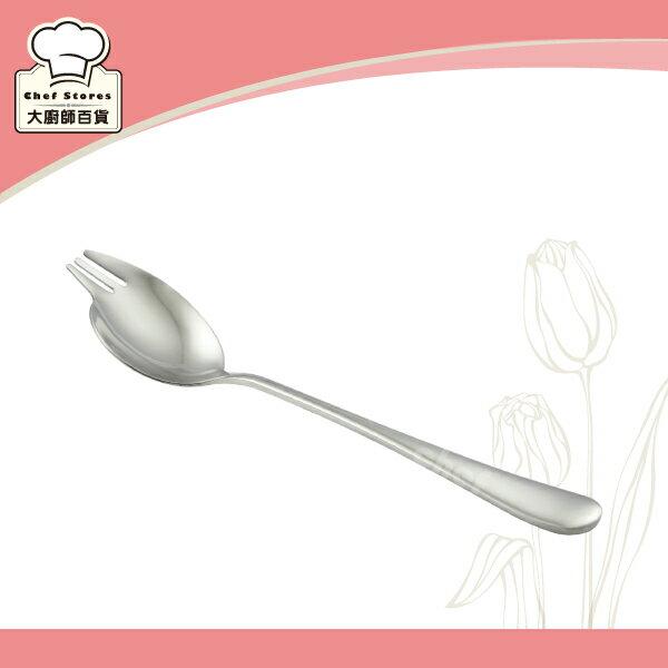 LINOX萬用湯匙304不銹鋼湯匙19cm前端叉子設計-大廚師百貨