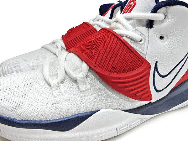 2020 Kyrie Irving 最新代言鞋款 NIKE KYRIE 6 VI GS TEM USA 大童鞋 女鞋 白深藍紅 美國隊 奧運 歐文 籃球鞋 (BQ5599-102) 0820 2