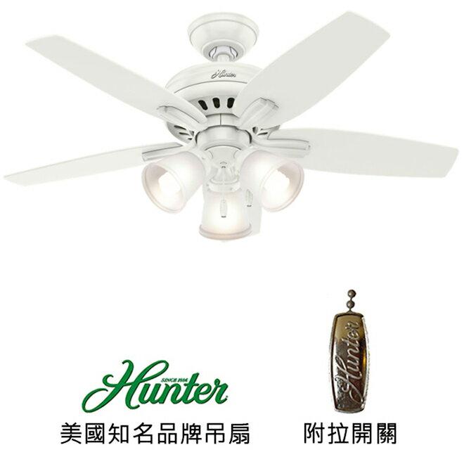 <br/><br/> [top fan] Hunter Newsome Three Light 42英吋吊扇(51083)白色<br/><br/>