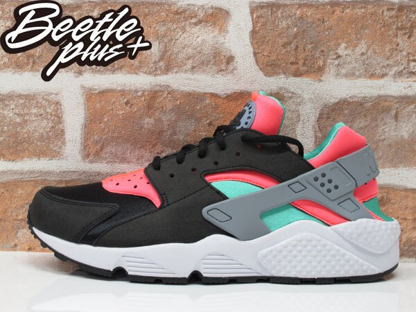BEETLE PLUS NIKE WMNS AIR HUARACHE RUN 黑粉 蒂芬妮綠 忍者鞋 武士 634835-003 0
