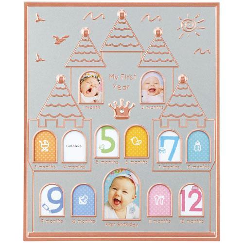 【百倉日本舖】日本進口 寶寶成長 城堡相框/寶寶12個月相框