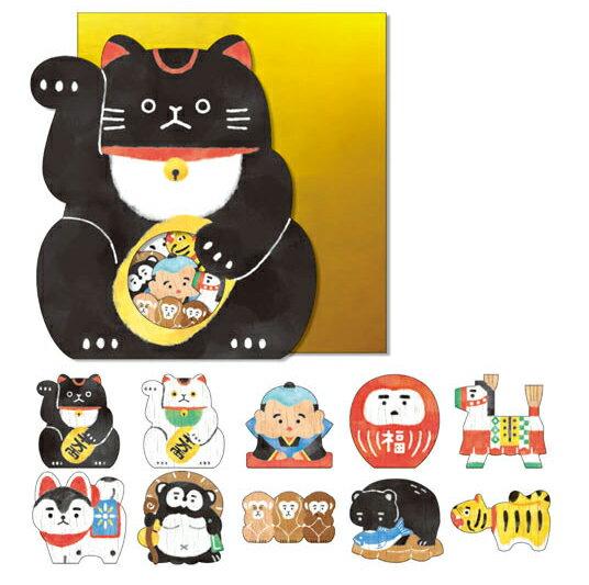 *小徑文化*日本進口 Mind Wave Nippon seal 貼紙包 - 招財貓 ( 77855 )