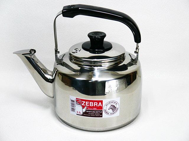快樂屋? 斑馬牌 厚款正304#不鏽鋼 笛音茶壺 3.5L桌上型 開水壺.冷水壺 極厚款另有 2.5/ 4.5/ 7.5L