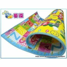 【淘氣寶寶●加贈次氯酸抗菌噴劑】《蔓葆嬰兒爬行墊》大富翁+字母雙面遊戲墊地墊2cm特厚款200x160x2.0cm