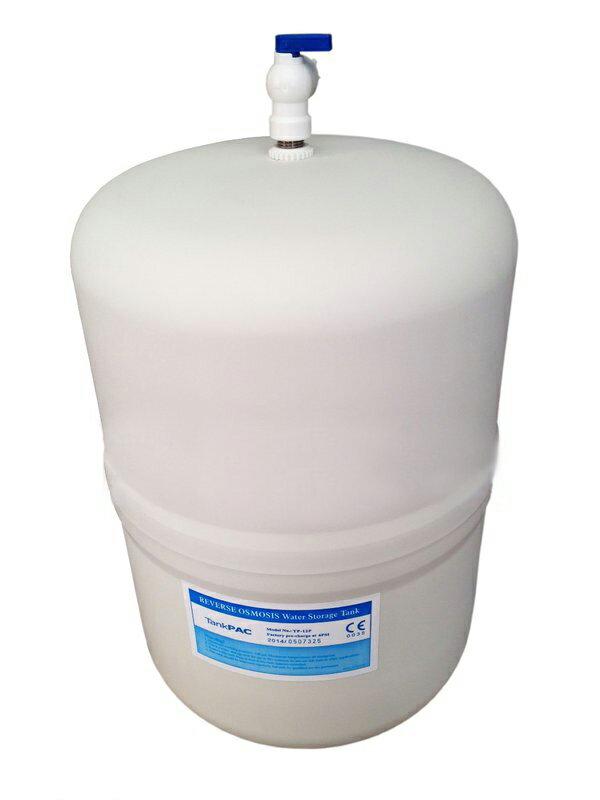 ^~^~台製CE NSF 塑膠外殼不生鏽RO儲水桶^(壓力桶^)12公升,附贈壓力桶閥門開