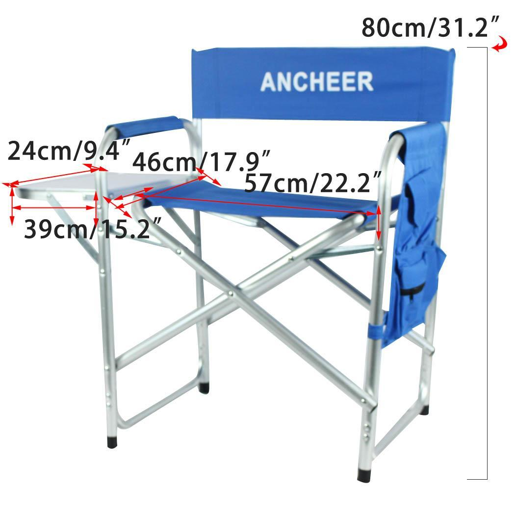Portable Folding Director Chair with Side Table 4