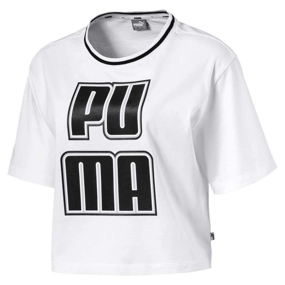 PUMA Rebel Reload 女裝 短袖 休閒 短版 舒適 透氣 白【 世界】57953302