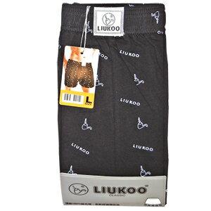 煙斗 絲光棉 平口褲(頂級100%) 隨機 L