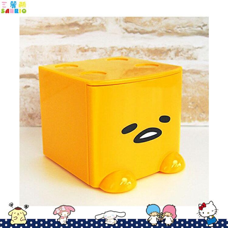 蛋黃哥 Gudetama 積木式迷你收納盒 積木盒 收納箱 置物盒 飾品盒 黃 日本進口正版 424367