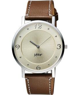 STAR時代錶 9T1407-431S-YG藝術復興時尚腕錶/淡金面39mm