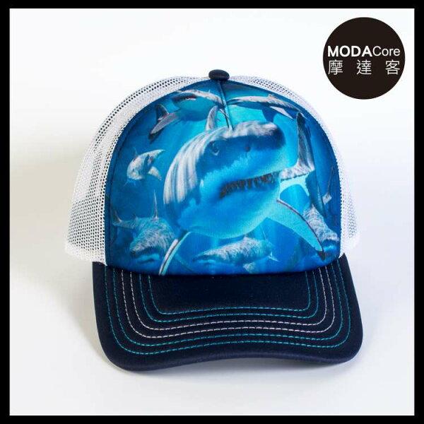 【摩達客】(預購)美國進口TheMountain鯊魚覓食藝術棒球帽網帽5-Panel新五分割帽