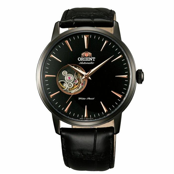 Orient 東方錶 FDB08002B SEMI-SKELETON系列 半鏤空機械錶/黑面41mm