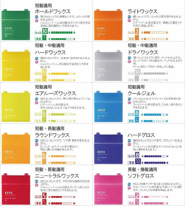 日本DEMI 提美 UEVO卵殼膜彩色造型灰積木髮蠟80g 多款可選 2