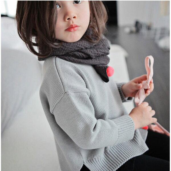 【韓國空運 正韓童裝】預購 春裝新款 正韓 女童 針織 上衣 純棉 5217SHOPPING 17021713