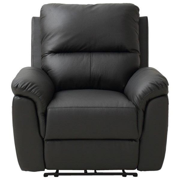 ◎半皮1人用電動可躺式沙發 N-BEAZEL BK NITORI宜得利家居 1