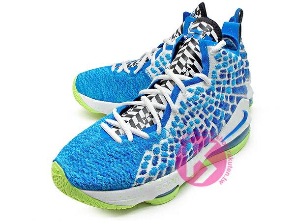 2020 NBA 最新款 LeBRON JAMES 最新代言 NIKE LEBRON XVII GS 17 SPRITE 大童鞋 女鞋 藍綠 雪碧 FLYKNIT 飛織鞋面 前 ZOOM AIR 後 MAX 氣墊 小皇帝 雷霸龍 KING LAKERS 頂級科技 籃球鞋 (BQ5594-434) 0320 1