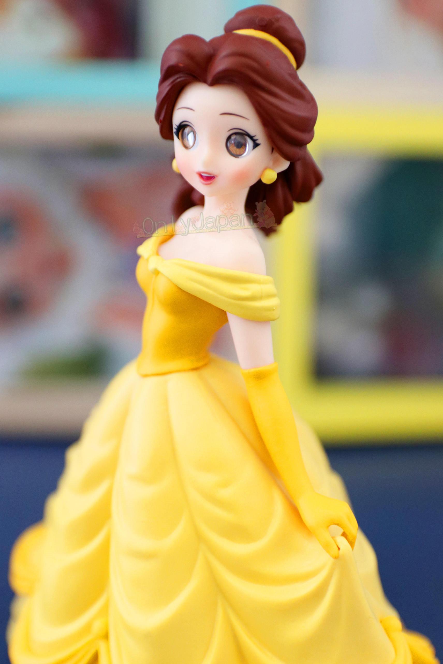 日本景品擺飾公仔 美女與野獸 貝兒 迪士尼  娃娃 模型 擺飾 收藏 公仔 日版 景品 SEGA 真愛日本