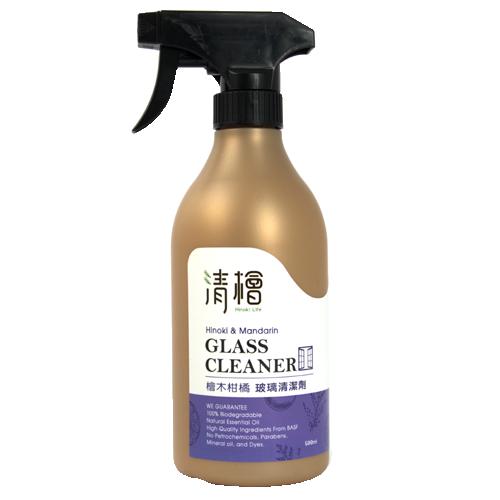 清檜Hinoki Life 檜木柑橘玻璃清潔劑500ml 溫和擦拭 光亮透白 天然成分最安心